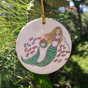 HICF Holiday Ornament - Mermaid front